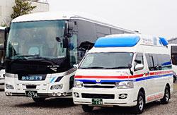 スター交通様所有のバス・民間救急車