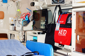 車内AED設置